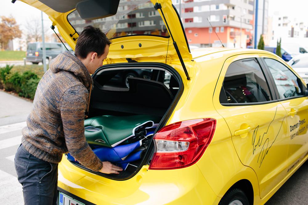 Sošolca – Domen Prevc in Ford Ka+