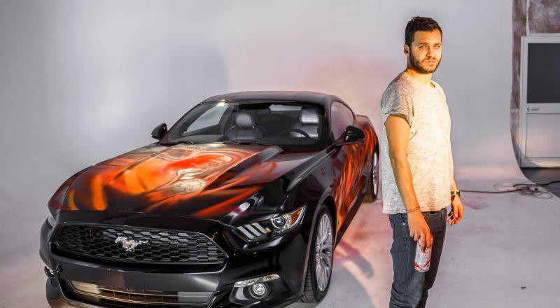 Ford Mustang je oživel kot strip na kolesih