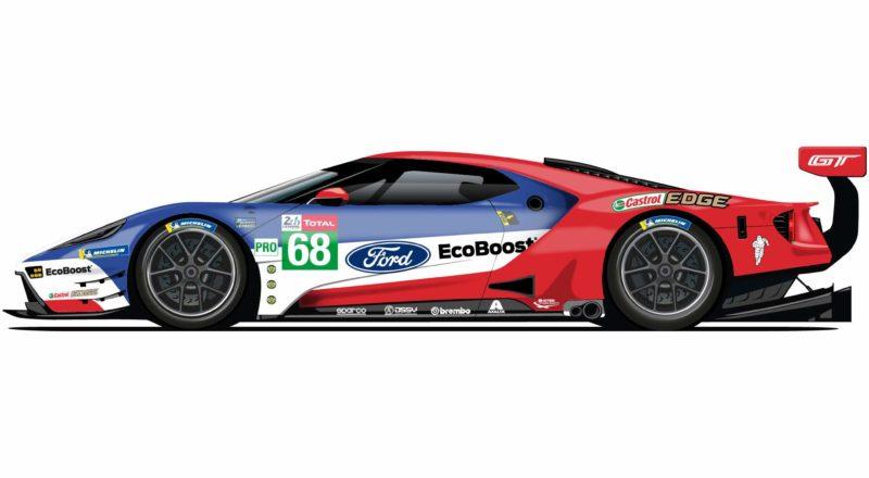 Ford je Le Mans počastil s slavnostnimi opravami