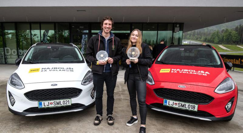 Najboljša za volanom 2019 sta Laura Cerovšek in Luka Gril