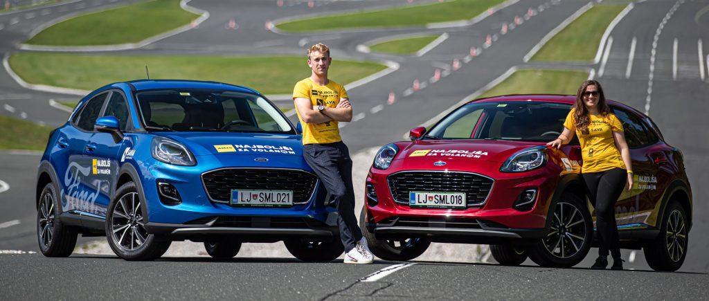 Ford Puma v rokah Najboljšega mladega voznika Mateja Gorjana