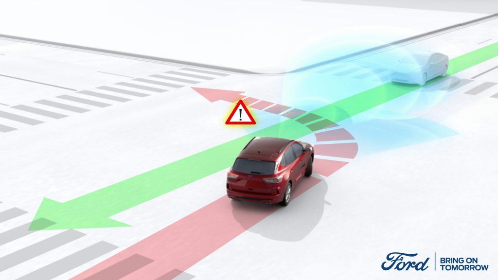 Fordova tehnologija voznika usmeri stran od avta v mrtvem kotu
