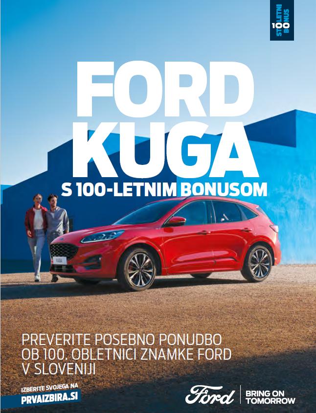 Jubilejna ponudba Fordovih vozil s 100-letnim bonusom
